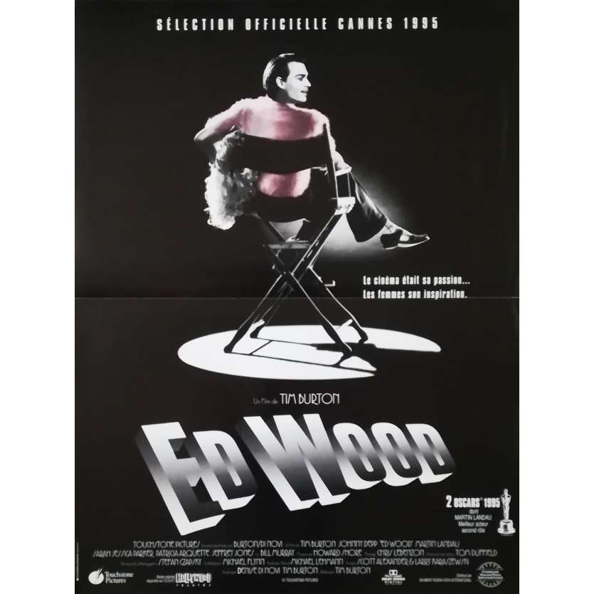 ED WOOD Affiche de film - 40x60 cm. - 1994 - Johnny Depp, Tim Burton