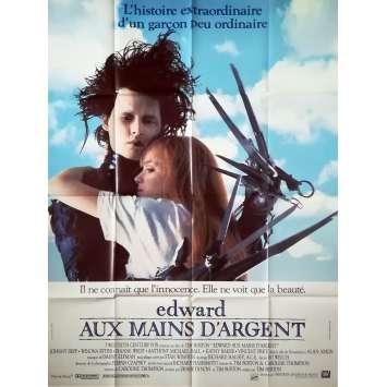 EDWARD AUX MAINS D'ARGENT Affiche de film - 120x160 cm. - 1992 - Johnny Depp, Tim Burton