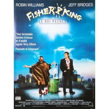 FISHER KING Original Movie Poster - 15x21 in. - 1991 - Terry Gilliam, Jeff Bridges