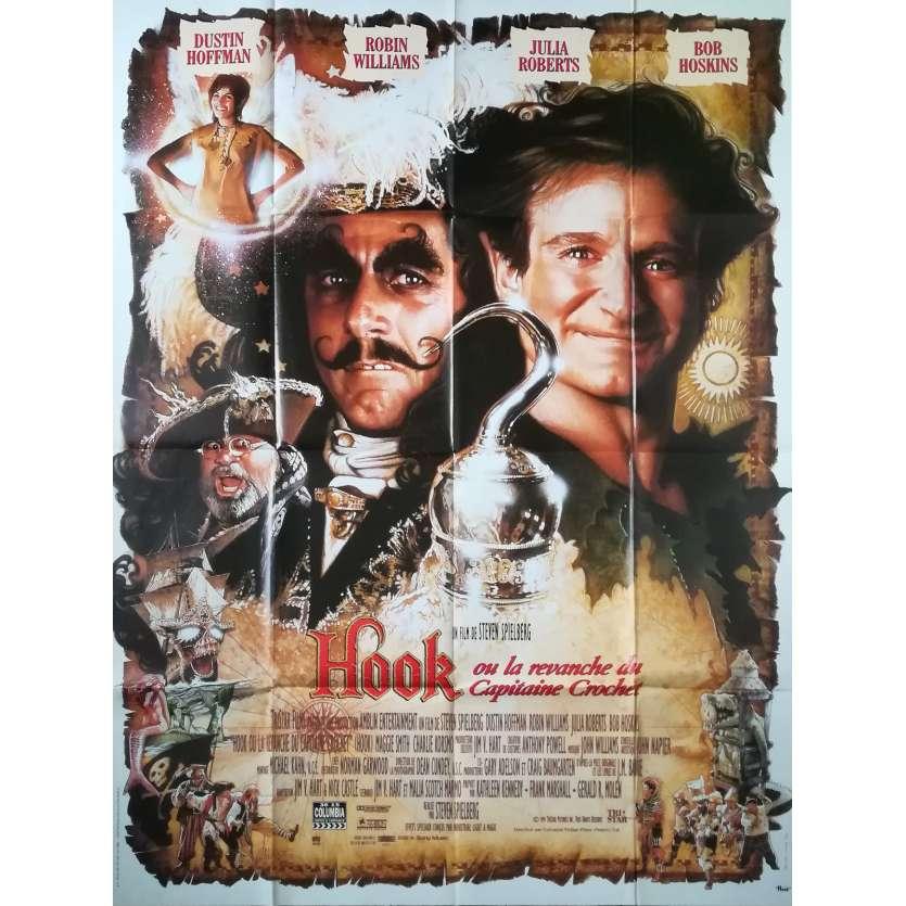 HOOK Affiche de film - 120x160 cm. - 1991 - Dustin Hoffman, Steven Spielberg