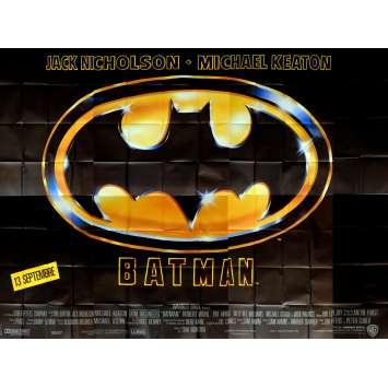 BATMAN Affiche de film - 400x300 cm. - 1989 - Jack Nicholson, Tim Burton