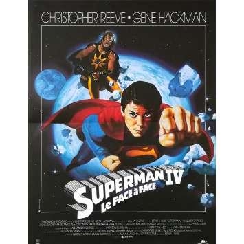 SUPERMAN IV Affiche de film - 40x60 cm. - 1987 - Christopher Reeve, Sidney J. Furie
