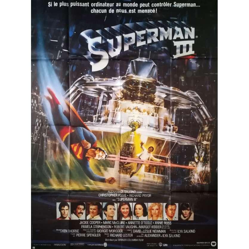 SUPERMAN 3 Affiche de film - 120x160 cm. - 1983 - Christopher Reeves, Richard Lester