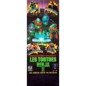 LES TORTUES NINJA 2 Affiche de film - 60x160 cm. - 1991 - David Warner, Michael Pressman