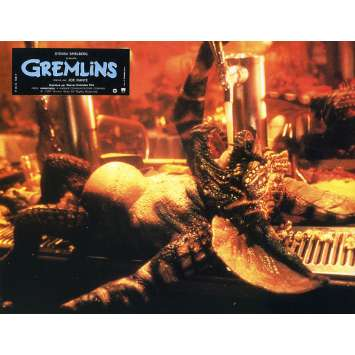GREMLINS Original Lobby Card N08 - 9x12 in. - 1984 - Joe Dante, Zach Galligan