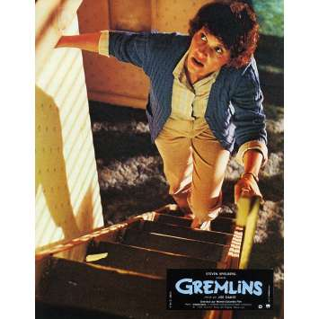 GREMLINS Original Lobby Card N07 - 9x12 in. - 1984 - Joe Dante, Zach Galligan