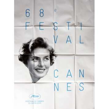FESTIVAL DE CANNES 2015 Original Movie Poster, 47x63 Ingrid Bergman, Folded