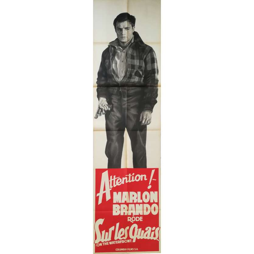 ON THE WATERFRONT Original Door Panel Movie Poster - 32x94 in. - 1954 - Elia Kazan, Marlon Brando