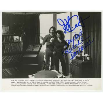 FOG Photo de Presse US signée par John Carpenter et Adrienne Barbeau ! - 20x25 cm. - 1979 - Ultra-rare !