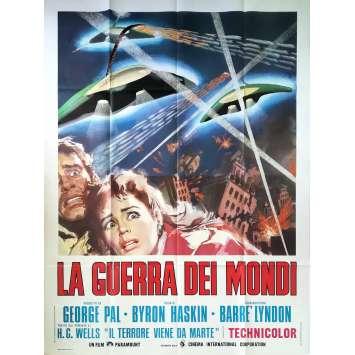 LA GUERRE DES MONDES Affiche de film - 140x200 cm. - R1960 - Gene Barry, Byron Haskin