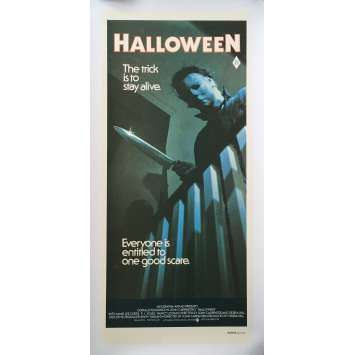 HALLOWEEN Original Daybill Movie Poster, On Linen - 1978 - John Carpenter, Ultra-rare!
