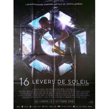 16 LEVERS DE SOLEIL Affiche de film - 120x160 cm. - 2018 - Thomas Pesquet, Pierre-Emmanuel Le Goff