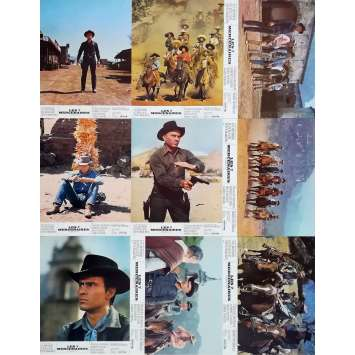 MAGNIFICENT SEVEN Original Lobby Cards x18 - 9x12 in. - 1960 - Yul Brynner, Steve McQueen