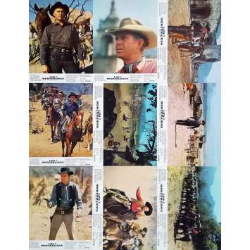 MAGNIFICENT SEVEN Original Lobby Cards x9 - 9x12 in. - 1960 - Yul Brynner, Steve McQueen