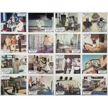 MON ONCLE Photos de film x16 - 24x30 cm. - 1958 - Jean-Pierre Zola, Jacques Tati