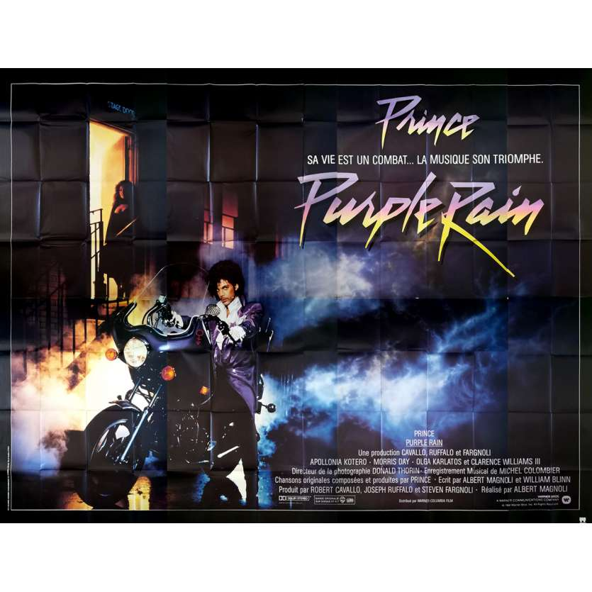 PURPLE RAIN Affiche de film - 400x300 cm. - 1984 - Prince, Billboard, Ultra-rare !