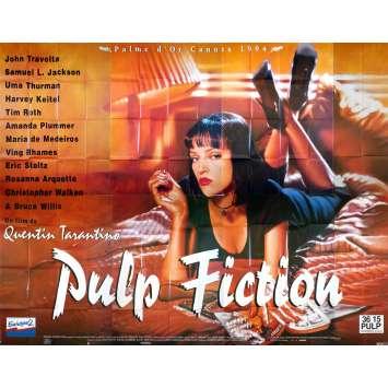 PULP FICTION Affiche de film - 400x300 cm. - 1994 - Quentin Tarantino, Ultra-rare !