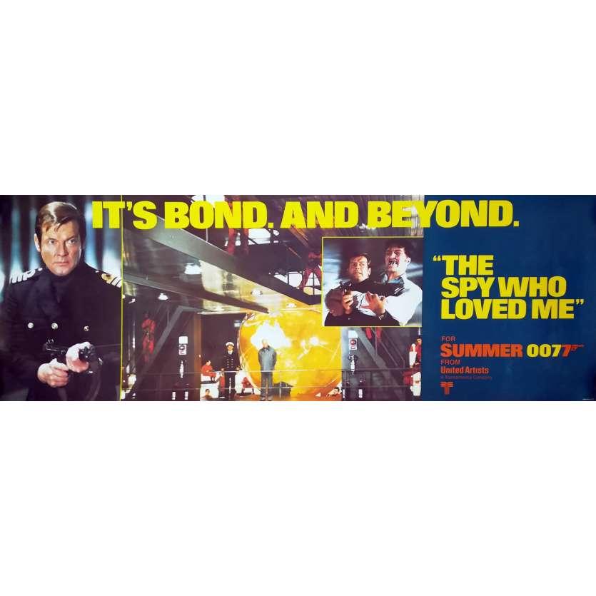L'ESPION QUI M'AIMAIT Affiche de film Mod. C - 53x153 cm. - 1977 - Roger Moore, Lewis Gilbert