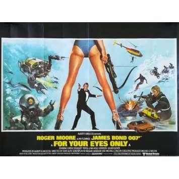 RIEN QUE POUR VOS YEUX Affiche de film - 76x102 cm. - 1981 - Roger Moore, John Glen