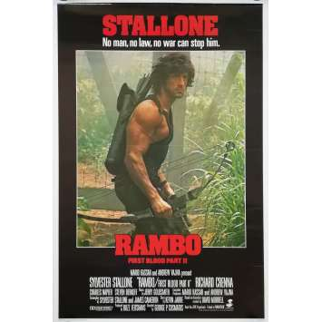 RAMBO - FIRST BLOOD PART II Original Movie Poster - 27x40 in. - 1985 - Bow Style, Sylvester Stallone