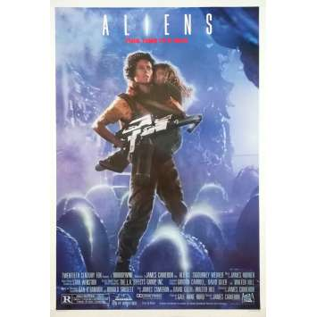 ALIENS Original Recalled Movie Poster - 27x40 in. - 1986 - James Cameron, Sigourney Weaver