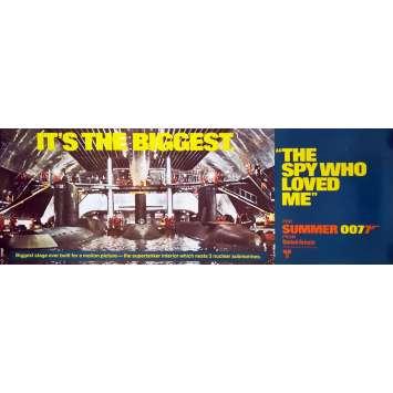 L'ESPION QUI M'AIMAIT Affiche de film Mod. A - 53x153 cm. - 1977 - Roger Moore, Lewis Gilbert