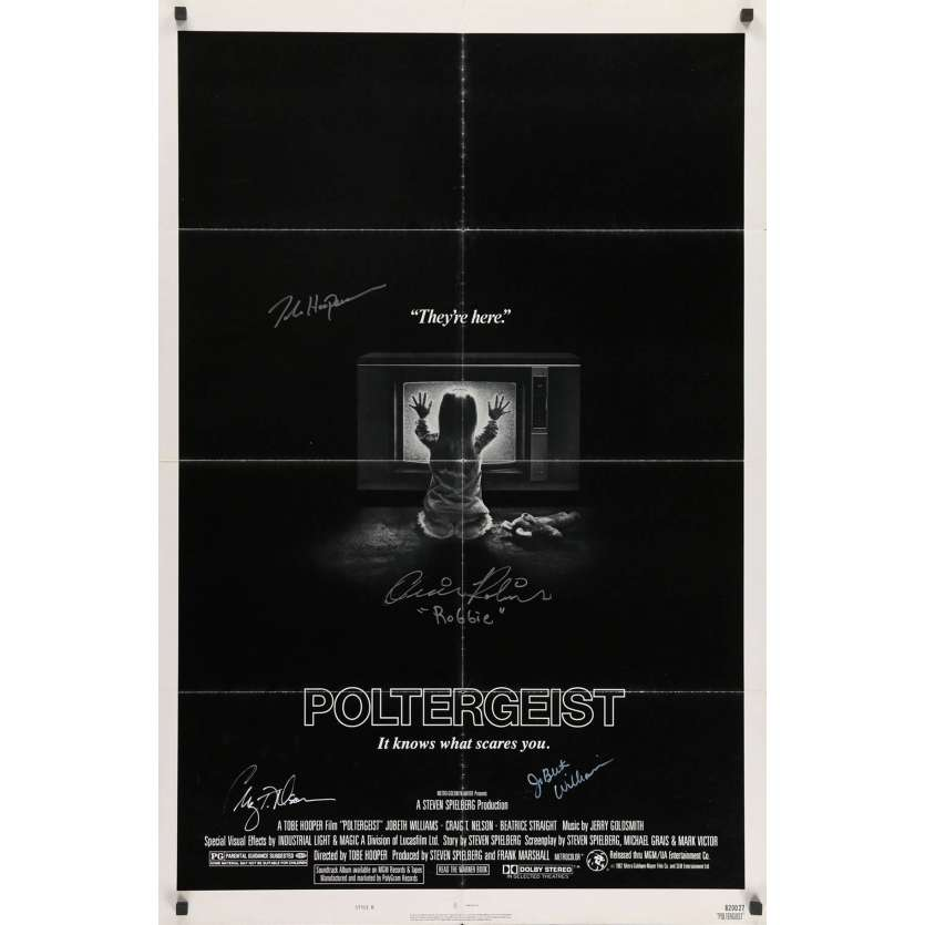 POLTERGEIST Signed Movie Poster