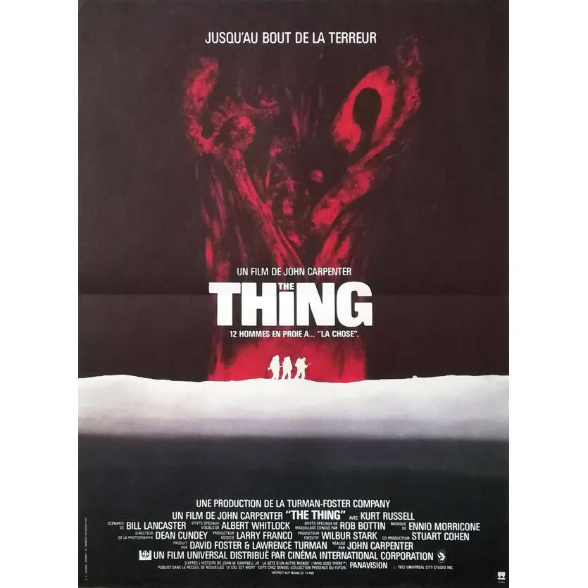 THE THING Original Movie Poster - 15x21 in. - 1982 - John Carpenter, Kurt Russel