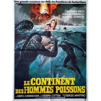 LE CONTINENT DES HOMMES POISSONS Affiche de film - 60x80 cm. - 1979 - Barbara Bach, Sergio Martino
