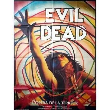 EVIL DEAD Affiche de film - 120x160 cm. - 1981 - Bruce Campbell, Sam Raimi