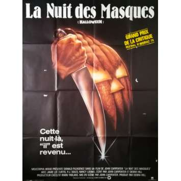 HALLOWEEN LA NUIT DES MASQUES Affiche de film - 120x160 cm. - 1978 - Jamie Lee Curtis, John Carpenter