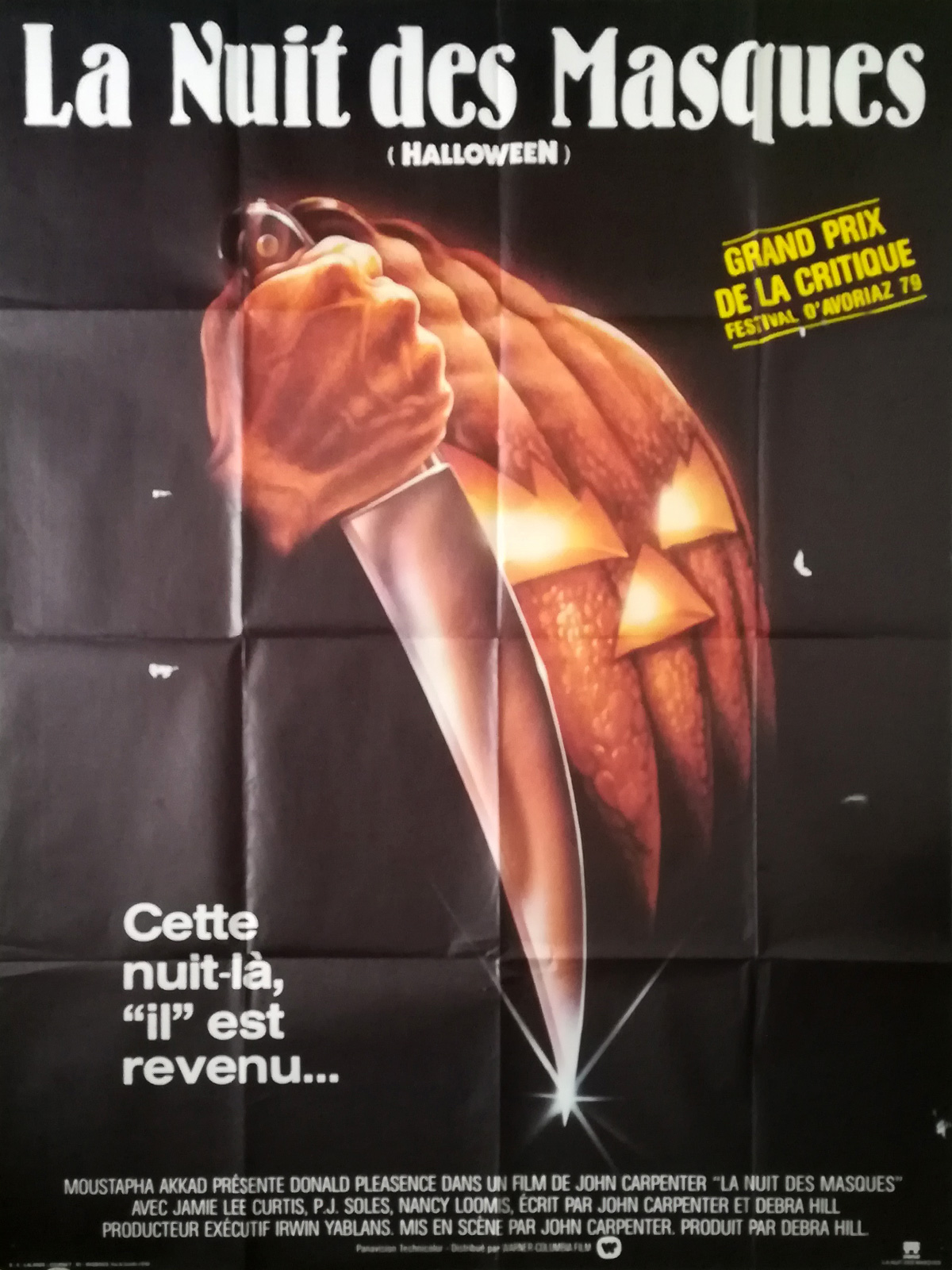 tout neuf officiel bon service HALLOWEEN LA NUIT DES MASQUES Affiche de film - 120x160 cm. - 1978 - Jamie  Lee Curtis, John Carpenter