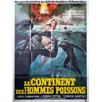 LE CONTINENT DES HOMMES POISSONS Affiche de film - 120x160 cm. - 1979 - Barbara Bach, Sergio Martino