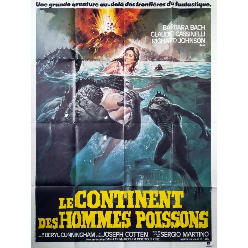 SOMETHING WAITS IN THE DARK Original Movie Poster - 47x63 in. - 1979 - Sergio Martino, Barbara Bach