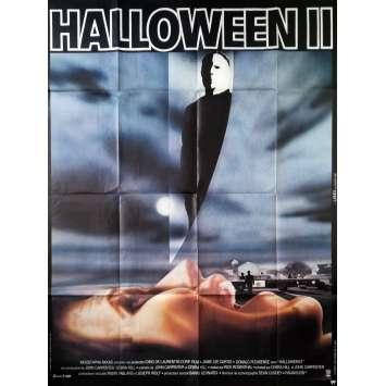 HALLOWEEN II Affiche de film - 120x160 cm. - 1981 - Jamie Lee Curtis, Rick Rosenthal