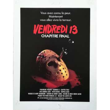Friday THE 13TH THE FINAL CHAPTER Original Herald - 9x12 in. - 1984 - Joseph Zito, Erich Anderson