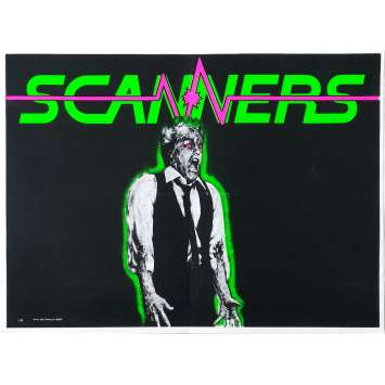 SCANNERS Original Movie Poster Rare Model - 15x21 in. - 1981 - David Cronenberg, Patrick McGoohan