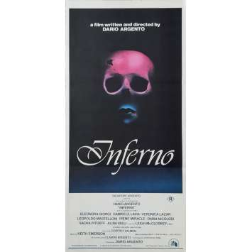 INFERNO Original Movie Poster - 13x30 in. - 1980 - Dario Argento, Daria Nicolodi