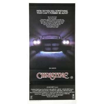 CHRISTINE Affiche de film - 33x78 cm. - 1983 - Keith Gordon, John Carpenter