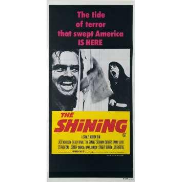 SHINING Affiche de film - 33x78 cm. - 1980 - Jack Nicholson, Stanley Kubrick