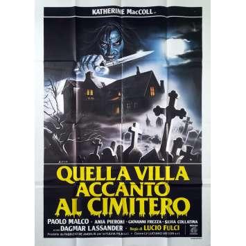 LA MAISON PRES DU CIMETIERE Affiche de film - 100x140 cm. - 1981 - Catriona McColl, Lucio Fulci