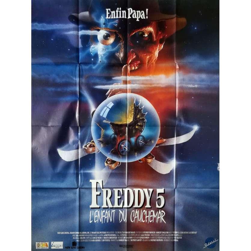 FREDDY 5 L'ENFANT DU CAUCHEMAR Affiche de film - 120x160 cm. - 1989 - Robert Englund, Stephen Hopkins