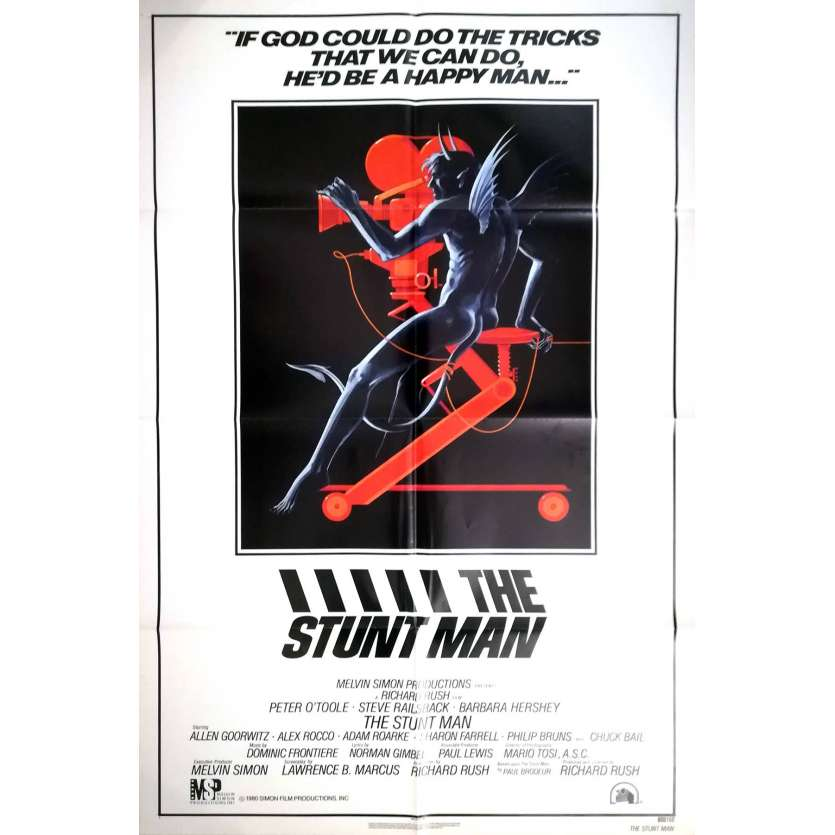 THE STUNT MAN US 1SH Movie Poster - 1980 - Peter O'Toole, Bill Gold