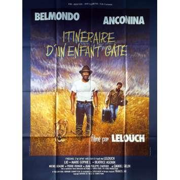 ITINERAIRE D'UN ENFANT GATE Affiche de film - 120x160 cm. - 1988 - Jean-Paul Belmondo, Claude Lelouch
