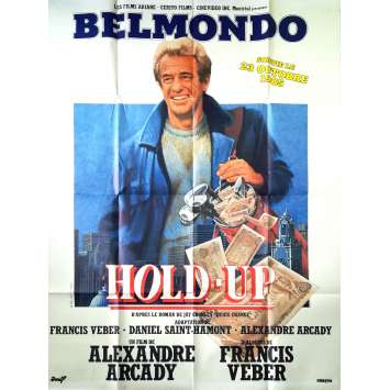 HOLD-UP Original Movie Poster - 47x63 in. - 1985 - Alexandre Arcady, Jean-Paul Belmondo