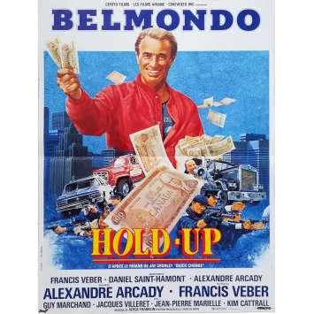 HOLD-UP Original Movie Poster - 15x21 in. - 1985 - Alexandre Arcady, Jean-Paul Belmondo