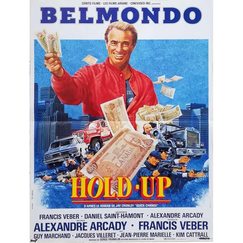 HOLD-UP Affiche de film - 40x60 cm. - 1985 - Jean-Paul Belmondo, Alexandre Arcady