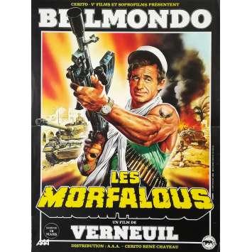LES MORFALOUS Affiche de film - 40x60 cm. - 1984 - Jean-Paul Belmondo, Henri Verneuil