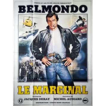 THE OUTSIDER Original Movie Poster - 47x63 in. - 1983 - Jacques Deray, Jean-Paul Belmondo