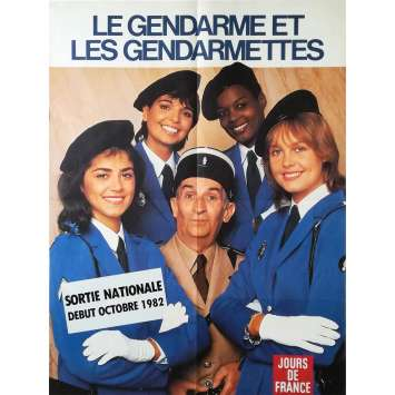 THE TROOPS AND THE TROOP-ETTES Original Movie Poster Style B - 23x32 in. - 1982 - Jean Girault, Louis de Funès